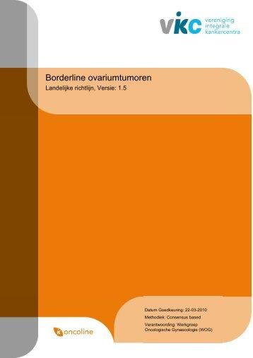 Richtlijn: Borderline ovariumtumoren (1.5) - Kwaliteitskoepel