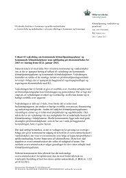 Brev til kommuner og forsyninger om vejledning - Klimatilpasning