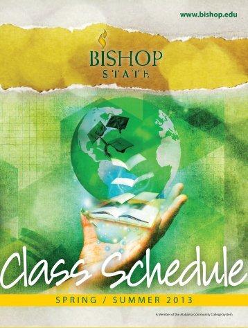2013 Summer Schedule - Bishop State Community College