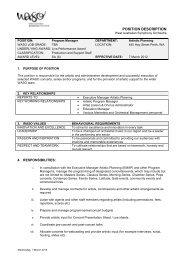 job description/duty statement - West Australian Symphony Orchestra