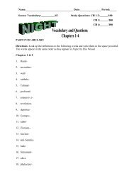 NIGHT Vocab _ Questions I-4