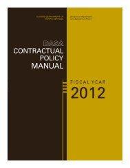 DASA Contractual Policy Manual - Illinois Department of Human ...