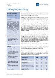 Unternehmensrating - Euler Hermes Rating Deutschland GmbH
