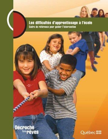 Les difficultés d'apprentissage à l'école - Accueil - Gouvernement du ...