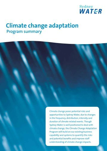 Sydney Water - Climate Change Adaptation