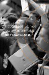In 2003, CBOE redefined how options are traded ... - CBOE.com