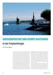 Grenzbereiche und Komplikationen in der ... - zahniportal.de