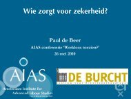 Presentatie van Wie zorgt voor zekerheid? - AIAS