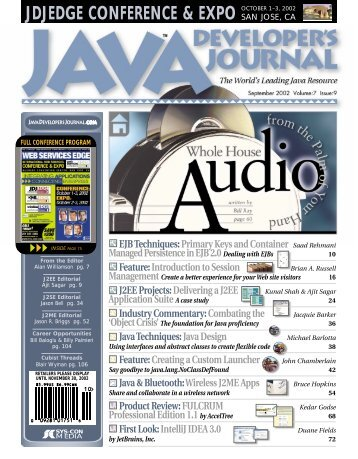 jdjedge conference & expo - sys-con.com's archive of magazines ...