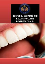 DOCTOR IN COSMETIC AND RECONSTRUCCTIVE DENTRISTRY Ph. D.