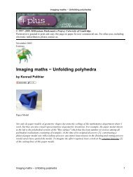 Imaging maths - Unfolding polyhedra