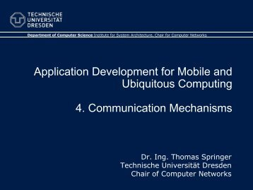 4. Communication Mechanisms - Faculty of Computer Science ...