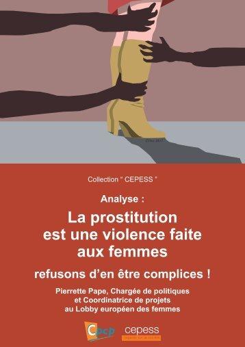 La prostitution est une violence faite aux femmes