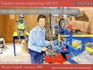 introduction to joint man machine systems - Cognitive Systems ...