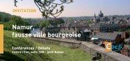 Namur, fausse ville bourgeoise Conférences / Débats - Cpcp.be