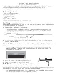 BASIC PLANE BLADE SHARPENING - Highland Woodworking