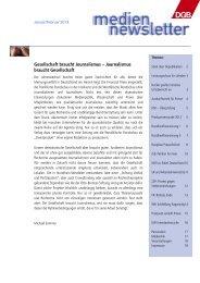Gesellschaft braucht Journalismus – Journalismus ... - Welt der Arbeit