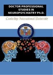 DOCTOR PROFESSIONAL STUDIES IN NEUROPSYCHIATRY Ph.D.