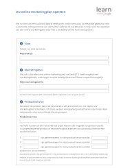 Uw online marketingplan opzetten