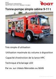 Tonne-pompe simple cabine 9-11 t - Vogt AG