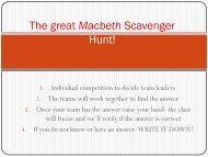 The great Macbeth Scavenger Hunt!