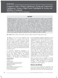 Comparative Study of Manual Cephalometric Tracing and ... - IJMD