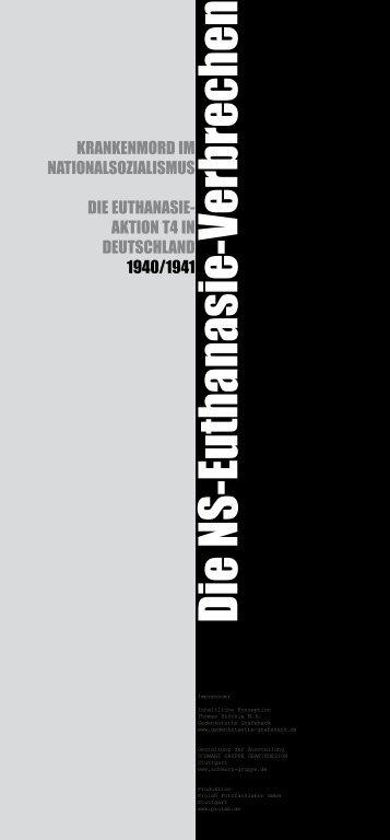 Die NS-Euthanasie-Verbrechen, Krankenmord im Nationalsozialismus