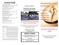 Sunday, November 23, 2008 - Incarnate Word Academy
