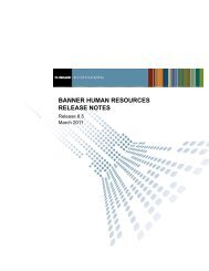 Banner Human Resources / Release Notes / 8.5