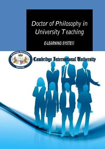 Doctor of Philosophy in University Teaching