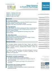 Open Diploma in Positive Psychology - ALBA Graduate Business ...