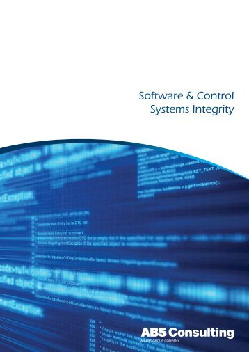 Software & Control Systems Integrity - ABS Consulting
