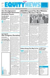 Equity News - Volume 97, Issue 1 - Jan/Feb 2012 - Actors