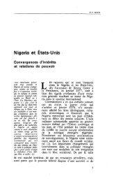Nigeria et Etats-Unis : Convergences d'intérêts ... - Politique Africaine