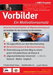 Motivation durch Vorbilder - AWO OV Neuss e. V.