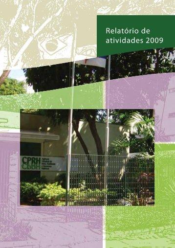 Relatório de atividades 2009 - CPRH - Governo do Estado de ...