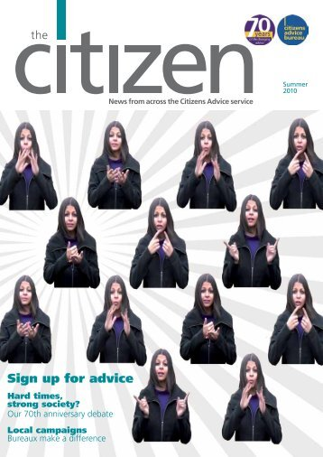 Sign up for advice - Citizens Advice