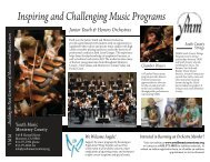 Program Brochure - Youth Music Monterey