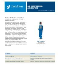 AG Compressed Air Filters Data Sheet - Donaldson Company, Inc.