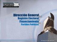 Dirección General del Registro Electoral y Financiamiento de ...
