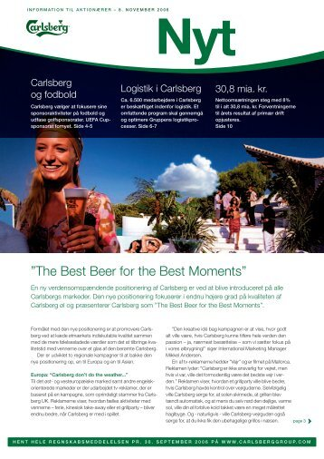 """The Best Beer for the Best Moments"""" - Carlsberg Group"""