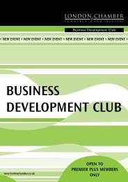 business development club - London Chamber of Commerce and ...
