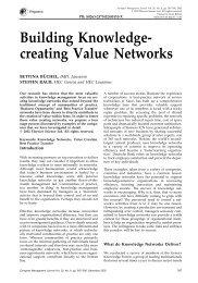 Building Knowledge- creating Value Networks - geneva knowledge ...
