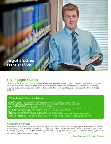Legal Studies - College of Arts and Sciences - Nova Southeastern ...