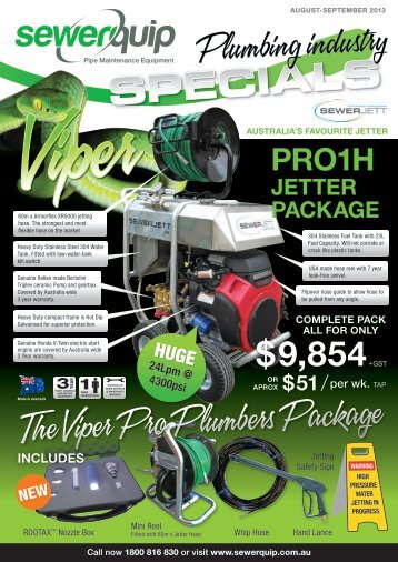 August Specials 2013 - Sewerquip