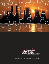2006 Annual Report - HTC Purenergy