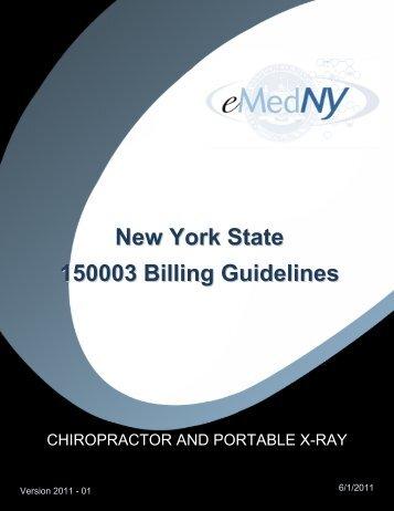 Chiropractor Billing Guidelines - eMedNY