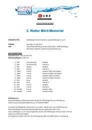 2. Walter Mörtl Memorial - SV Donau Chemie St.Veit an der Glan