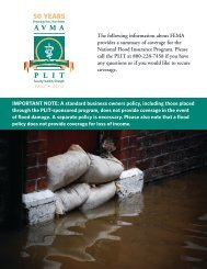 to download a summary of flood coverage - AVMA PLIT