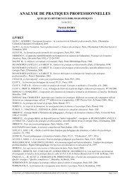 analyse de pratiques professionnelles - SITE Patrick ROBO - Free